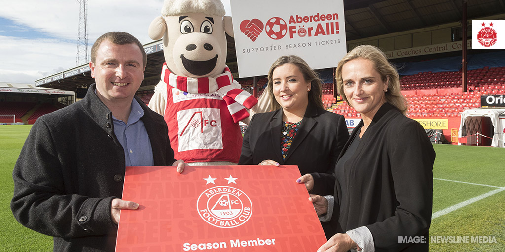 AFC Aberdeen For All season tickets handover