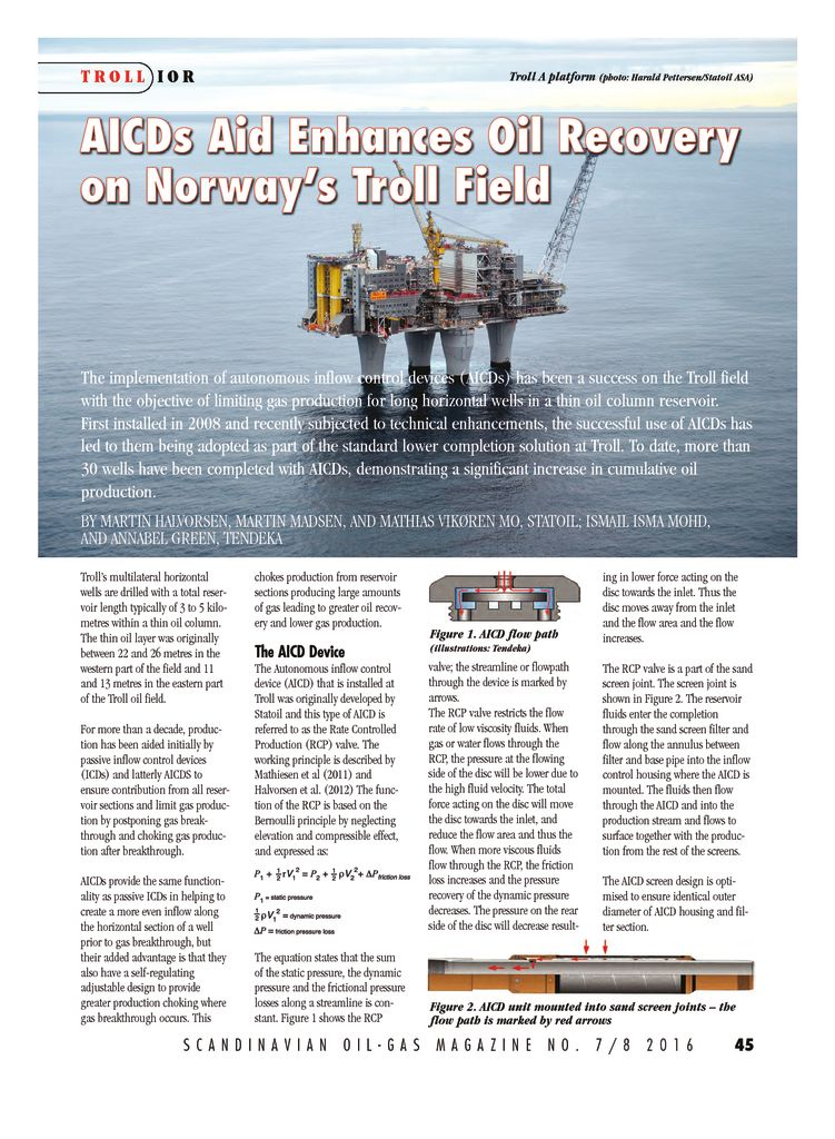 thumbnail of AICDs Aid Enhances Oil Recovery on Norway Troll Field