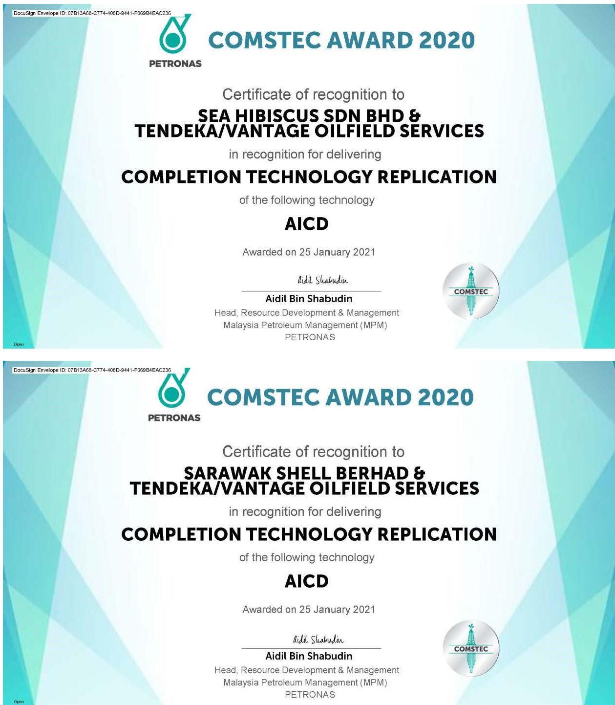 COMSTEC awards certificates