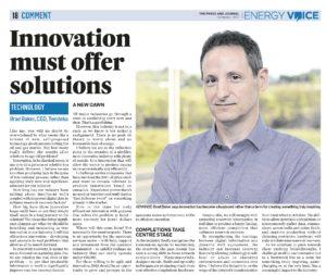 Energy Voice article by Brad Baker - September 18