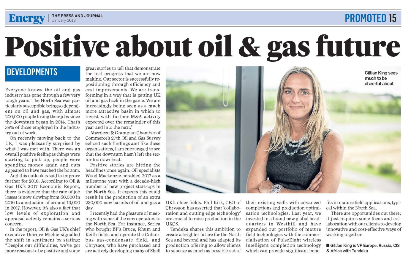 Energy press cutting with Gillian King