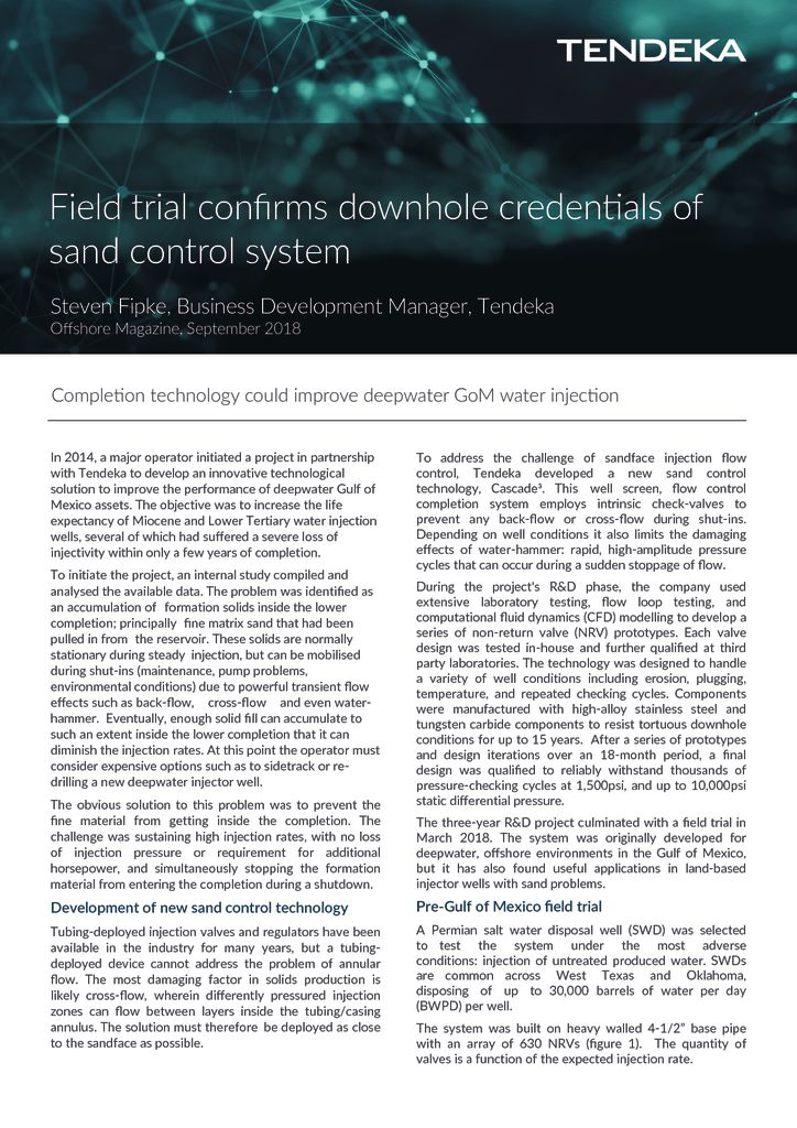 thumbnail of Field trial confirms – Offshore Sep 2018
