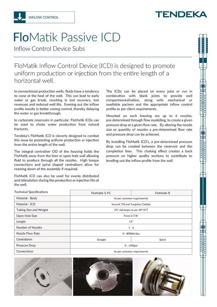 thumbnail of FloMatik ICD Datasheet