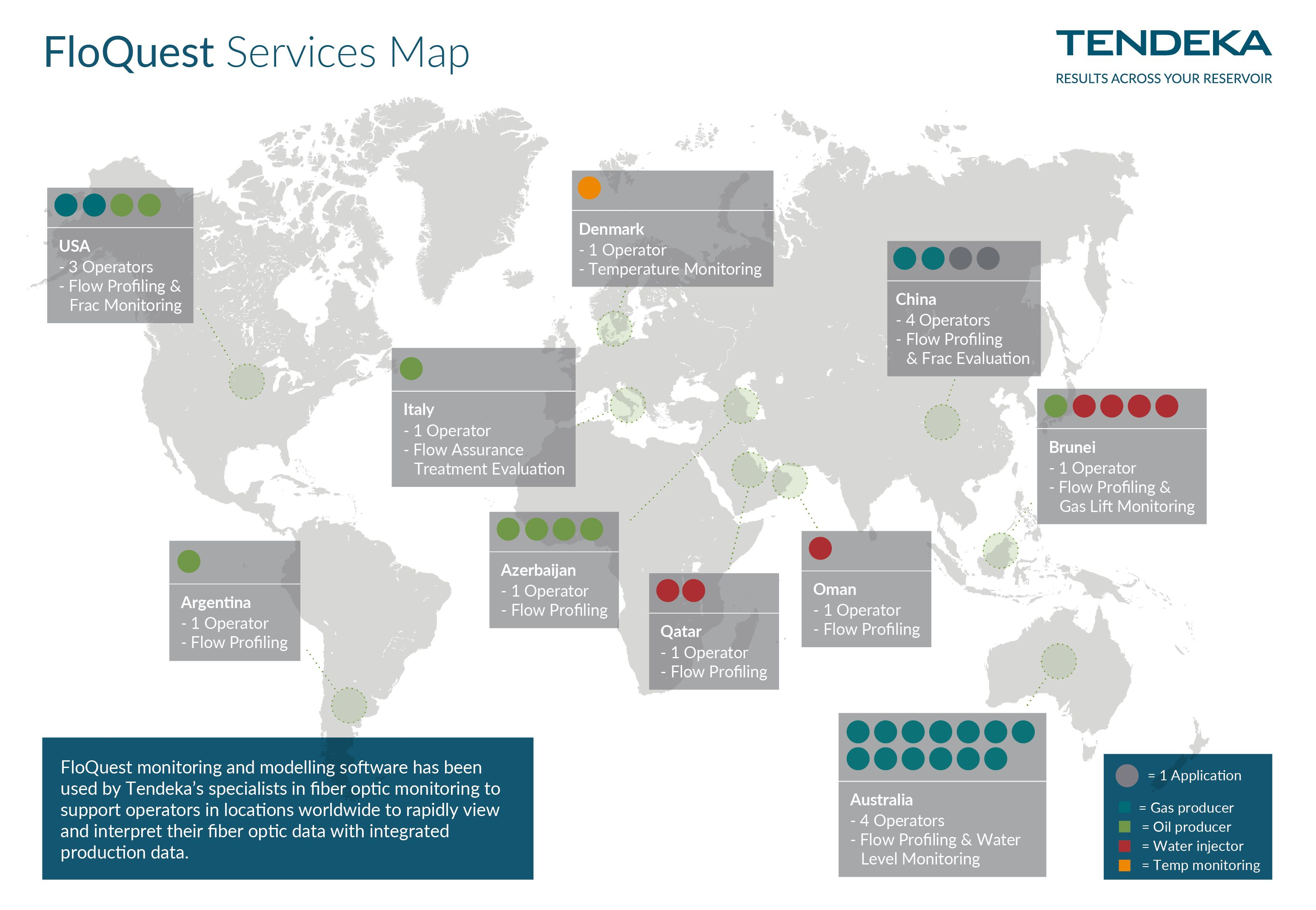 FloQuest Services Worldwide map
