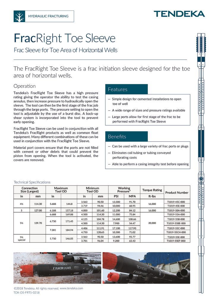 thumbnail of FracRight Toe Sleeve Datasheet 2018