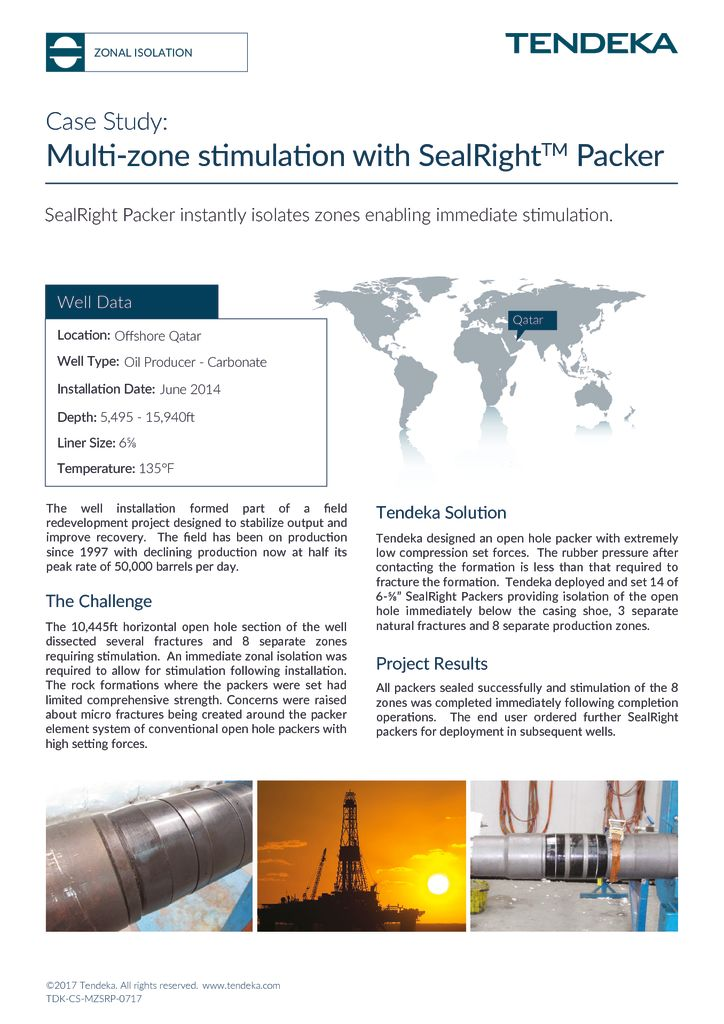 thumbnail of Multi-zone Stimulation with SwellRight packer_Case Study 2017