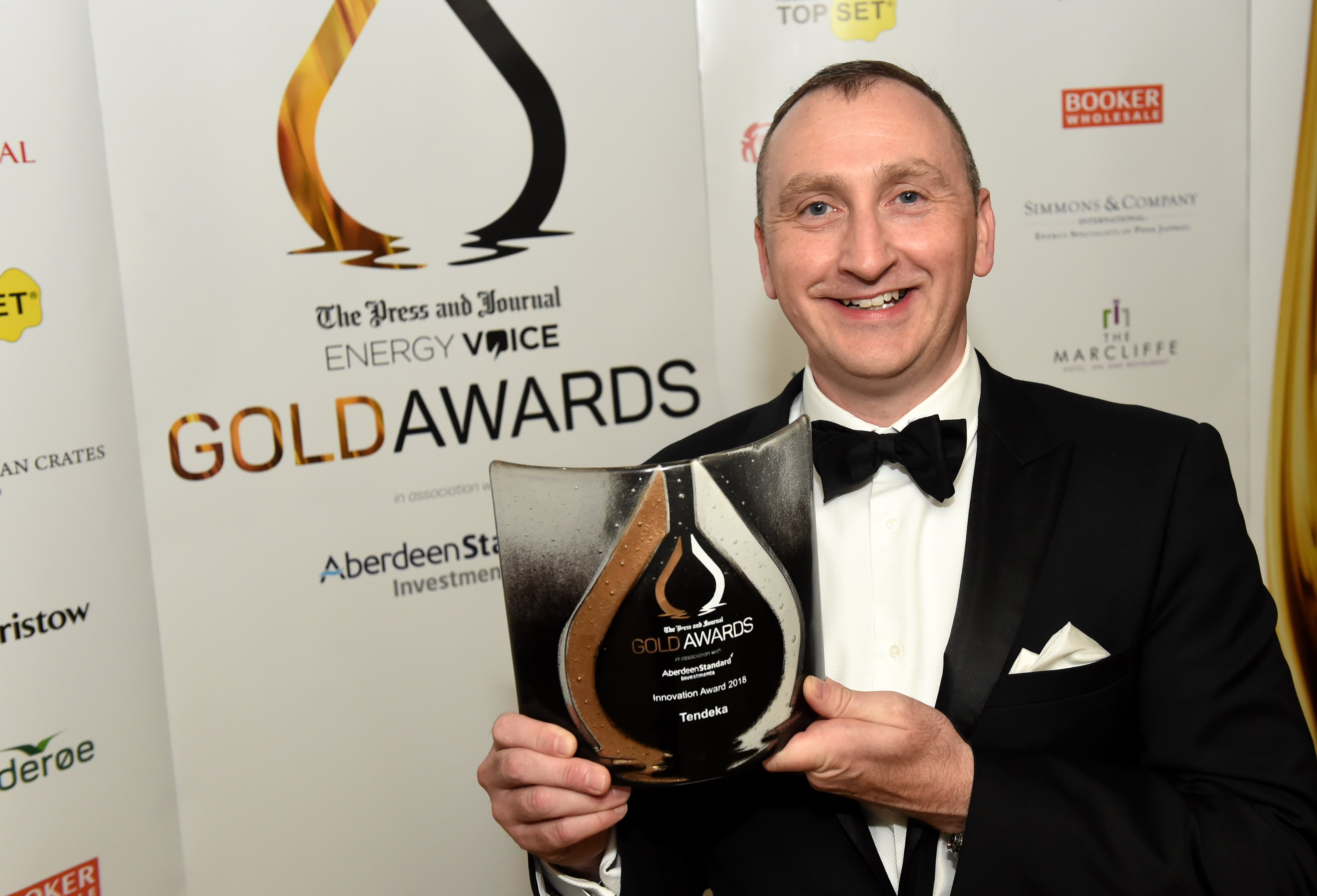 Tendeka Advanced Completions Director Paul Lynch at P&J Gold Awards