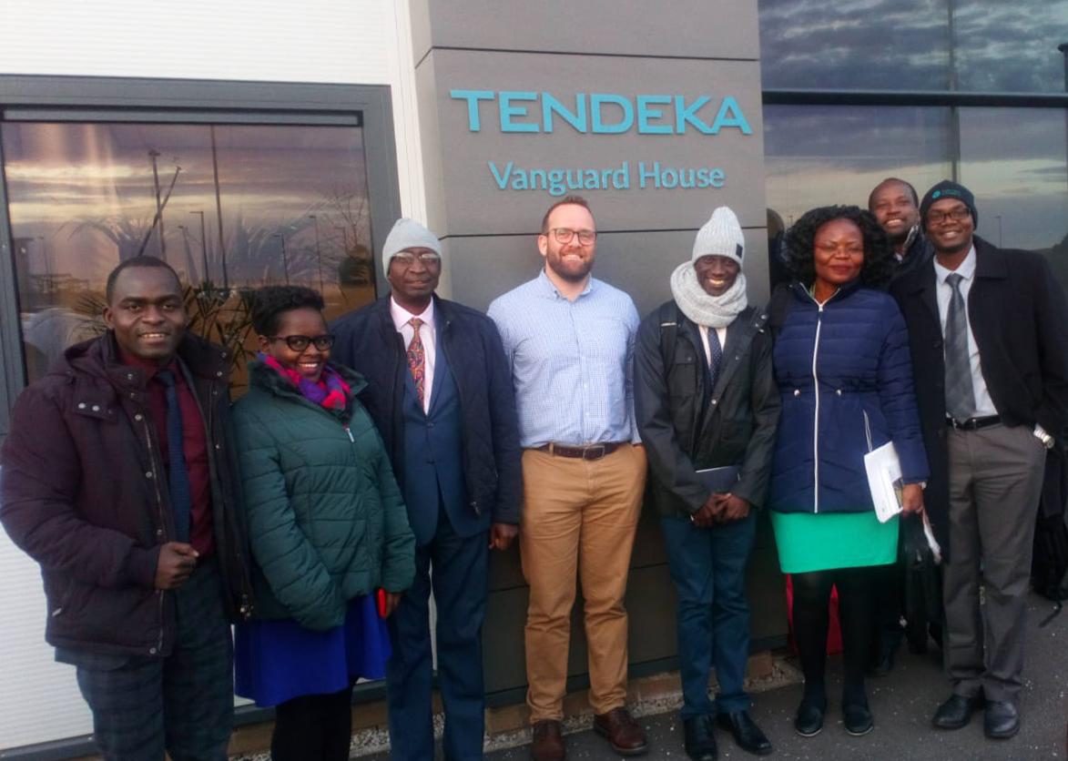 Petroleum Authority of Uganda delegation outside Tendeka Vanguard House