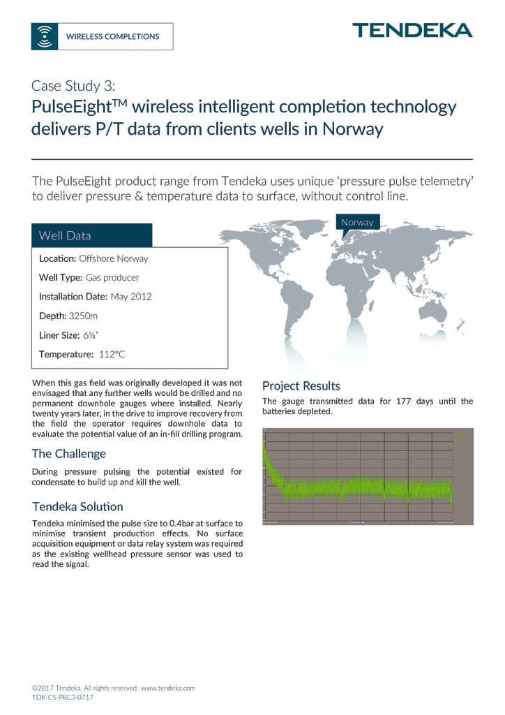 thumbnail of PulseEight wireless intelligent completion technology in Norway_Case Study 3 2017