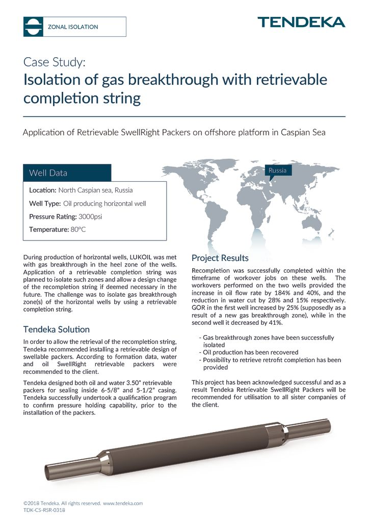 thumbnail of Retrievable SwellRight Packers Case Study