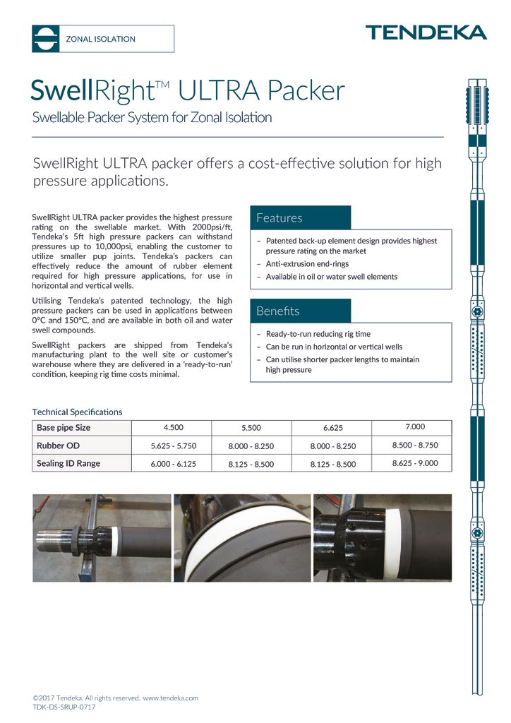 thumbnail of SwellRight ULTRA Packer Datasheet 2017