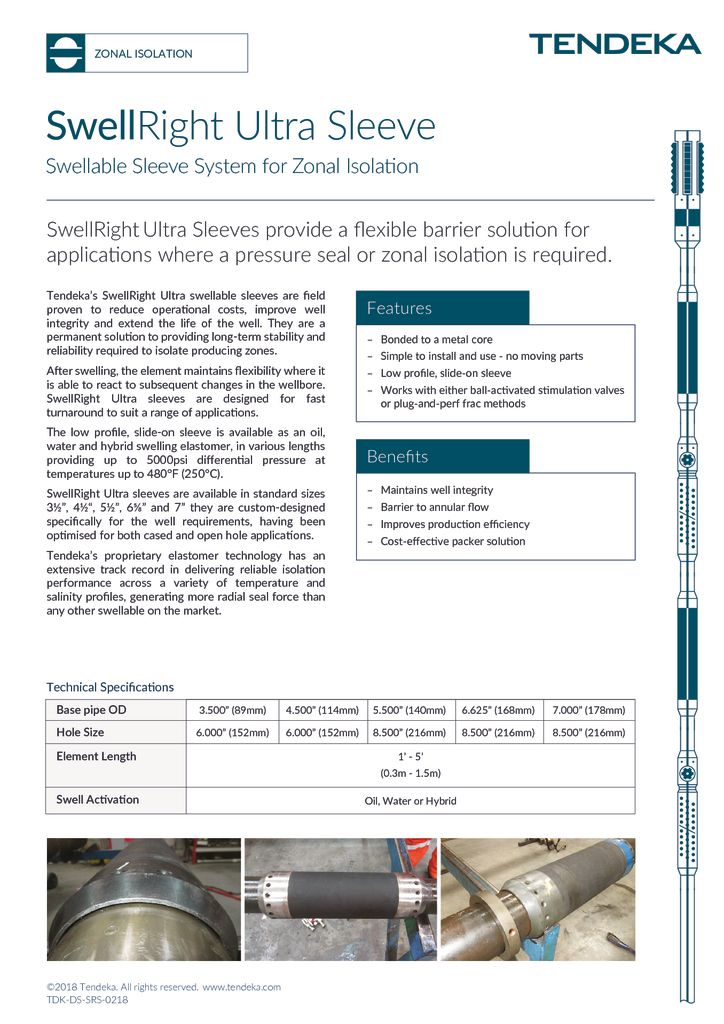 thumbnail of SwellRight Ultra Sleeve Datasheet 2018