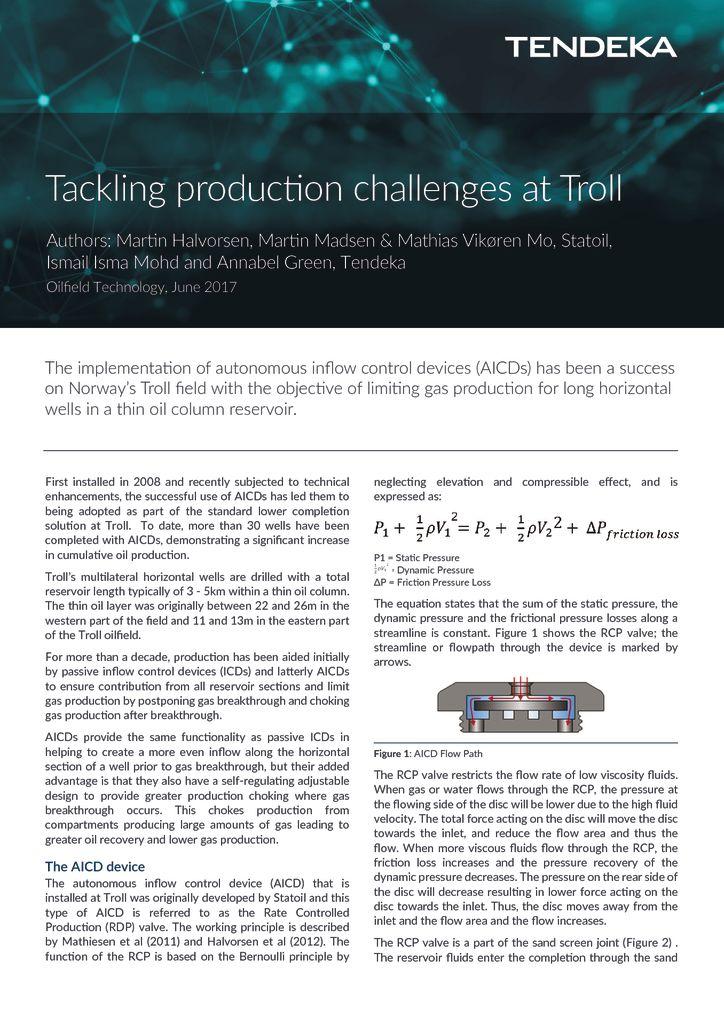thumbnail of Tackling Production Challenges at Troll