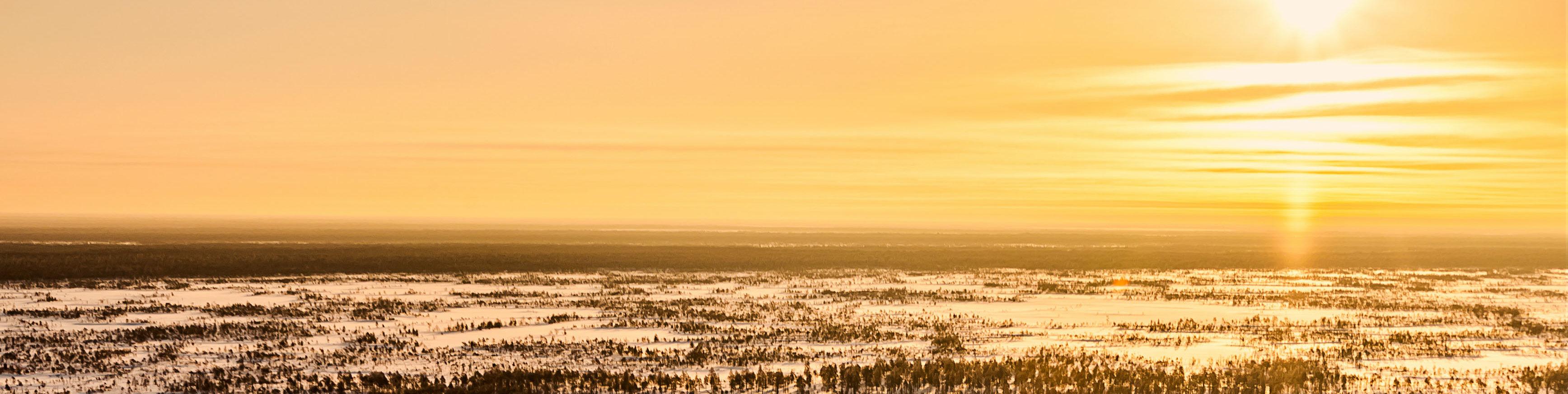 landscape view of frozen desert