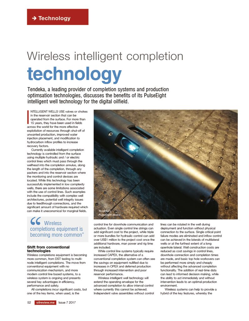 thumbnail of Wireless Intelligent completion technology – Kevin Buchan