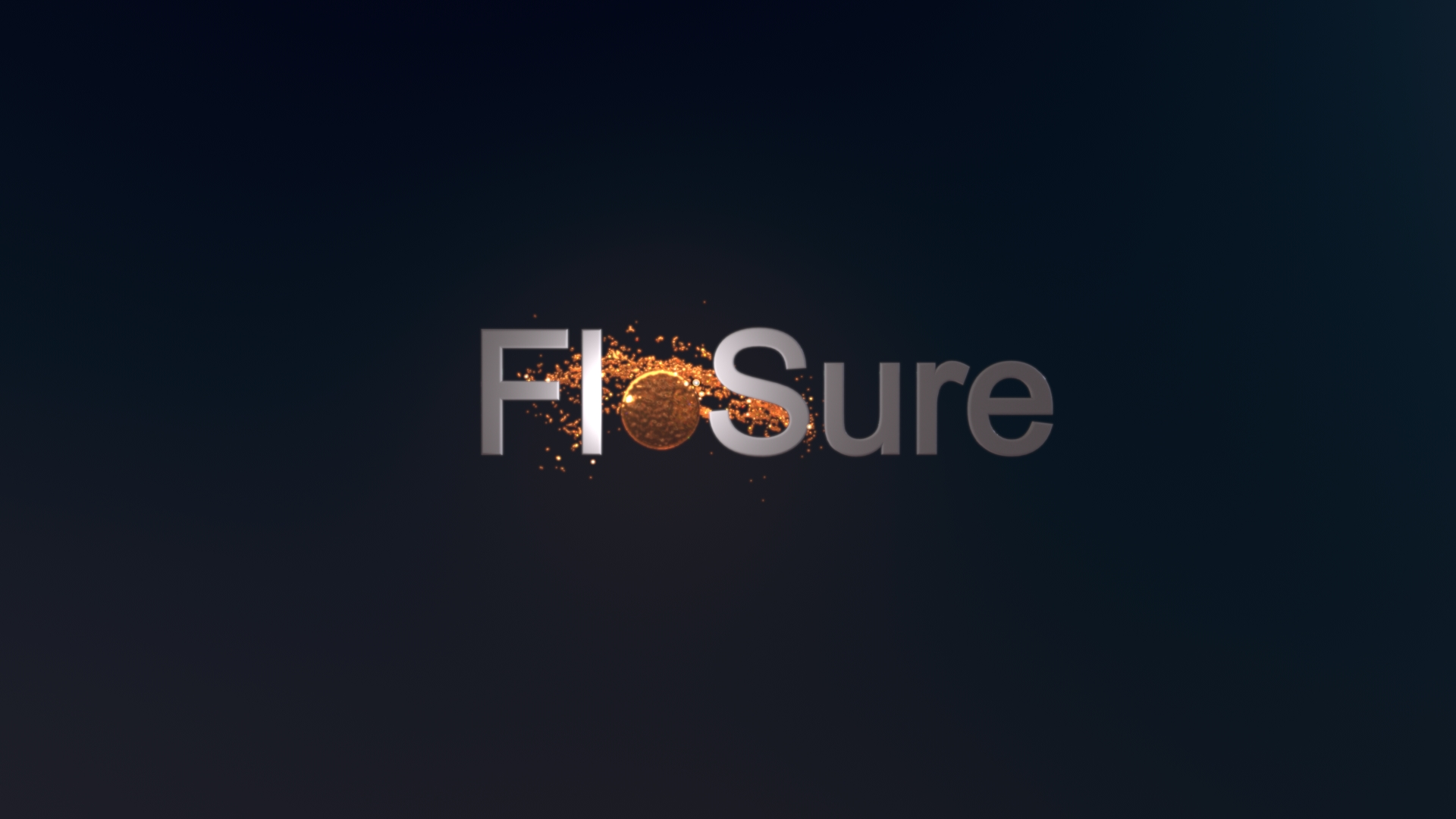 Flosure logo on black background