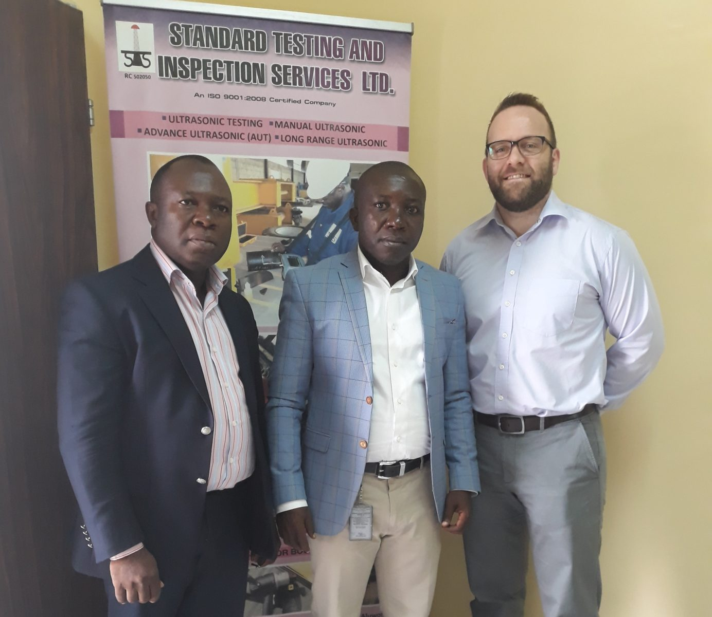 STIS MD and COO with Tendeka's Phil Stone in Nigeria